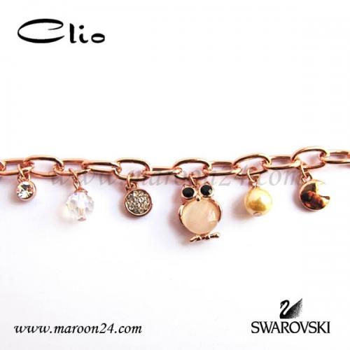 دستبند کلیو با کریستال های سواروفسکی CD03
