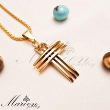 گردنبند مردانه و پسرانه صلیب طلایی مارون MM98