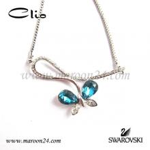 گردنبند پروانه آبی مارون CN29