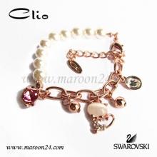 دستبند کلیو با کریستال های سواروفسکی CD15