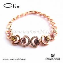 دستبند کلیو با کریستال های سواروفسکی CD16