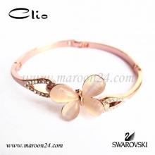 دستبند کلیو با کریستال های سواروفسکی CD18