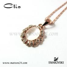 گردنبند کلیو با کریستال های سواروفسکی CN41