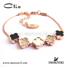 دستبند کلیو با کریستال های سواروفسکی CD01