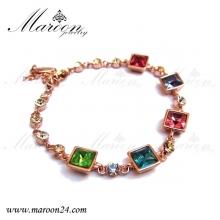 دستبند مارون با کریستال های سواروفسکی CD24