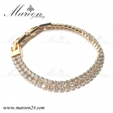 دستبند مارون با کریستال های سواروفسکی CD37