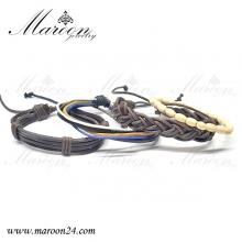 دستبند مردانه و پسرانه چهار تایی بافت مارون MMD64