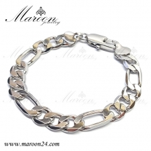 دستبند فیگارو نقره ای مارون CD61