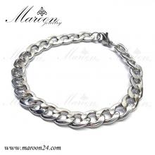 دستبند مردانه و پسرانه کارتیه نقره ای مارون MMD77
