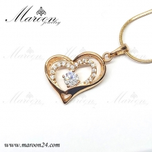 گردنبند قلب تو در تو مارون CN112
