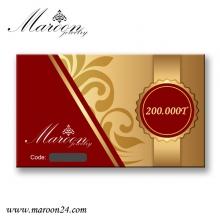 کارت هدیه 200 هزار تومانی فروشگاه زیورآلات مارون 24