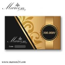کارت هدیه 300 هزار تومانی فروشگاه زیورآلات مارون 24
