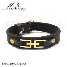 دستبند چرم طبیعی لوکس مردانه و پسرانه مارون MMD82