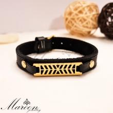 دستبند چرم طبیعی شارون مارون MM86
