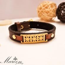 دستبند چرم طبیعی آرسین مارون MM87