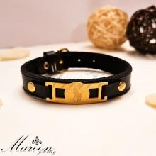 دستبند چرم طبیعی پلو مارون MM89