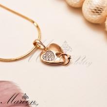 گردنبند قلب و حلقه مارون CN155